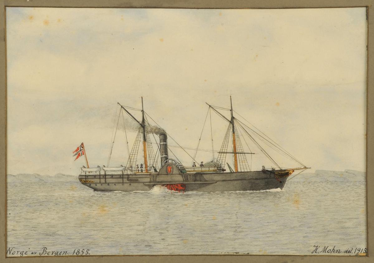 Postskip 'Norge' av Bergen, 1855