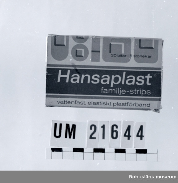 594 Landskap BOHUSLÄN 394 Landskap VÄSTERGÖTLAND  Hansaplast, familje-strips, tom.  UMFF 39:4