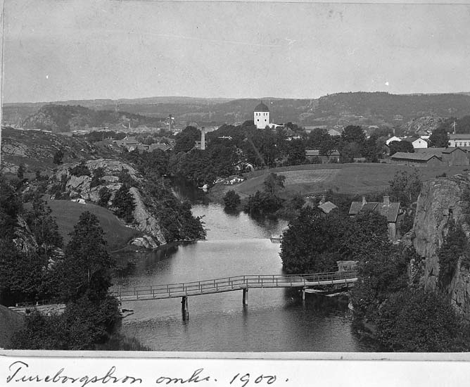 """Text på kortet: """"Tureborgsbron omkr. 1900""""."""