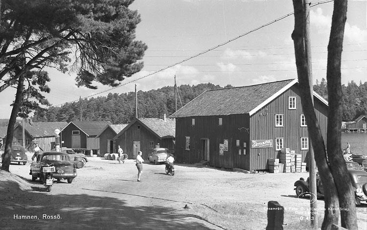 """Enligt AB Flygtrafik Bengtsfors: """"Rossö hamnplats Bohuslän""""."""
