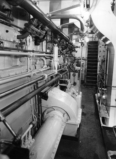 Interör från 124 M/T Astrid Elisabeth, maskinrum.