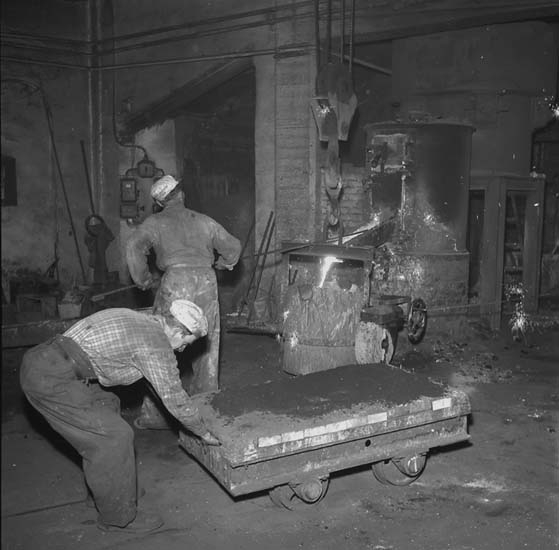 Arbete i gjuteriet, Skandiaverken.