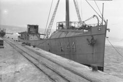 Hjälpkanonbåten H 44 SKAGERACK i Uddevalla hamn 1948