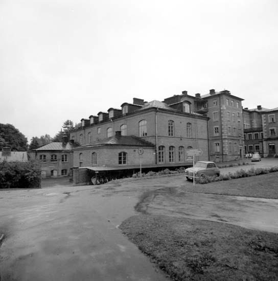 """Enligt notering: """"Gamla lasarettsbyggnader 21/9 -59""""."""