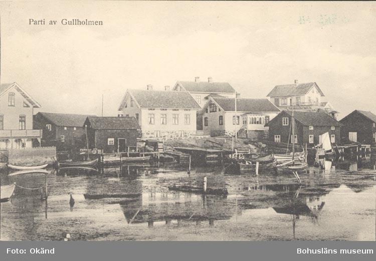 """Noterat på kortet: """"Parti av Gullholmen""""."""