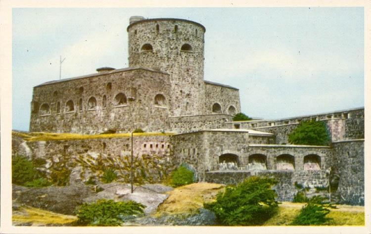 """Tryckt text på kortet: """"Marstrand. Carlstens fästning""""  ::"""