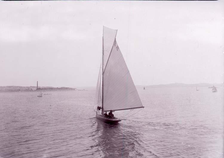 """Enligt text som medföljde bilden: """"Kappsegling 70 1913"""". ::"""