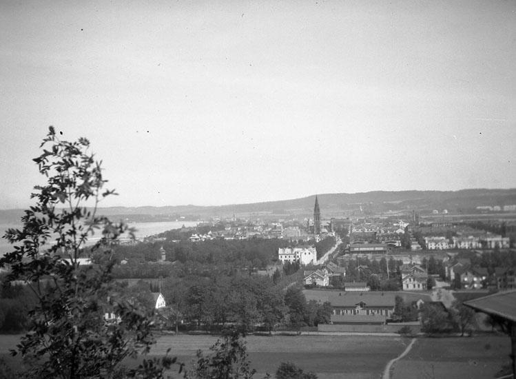 """Enligt text som medföljde bilden: """"Jönköping. Utsikt från Alphyddan."""""""