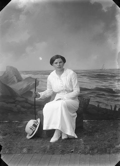 """Enligt fotografens journal nr 2 1909-1915: """"Ström, Emmy, Järnvägshotellet""""."""