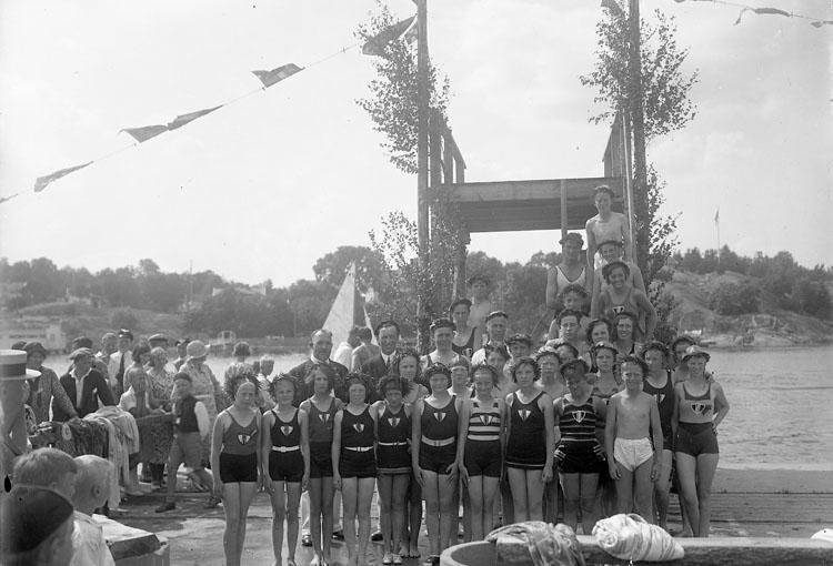"Enligt fotografens journal nr 6 1930-1943: ""Simpromotionen i Stenungsund""."