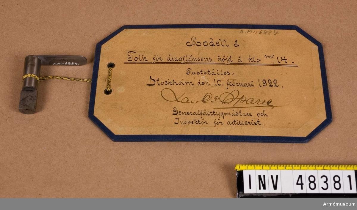 Grupp E VIII. Till lösskjutning med kulspruta m/1914.
