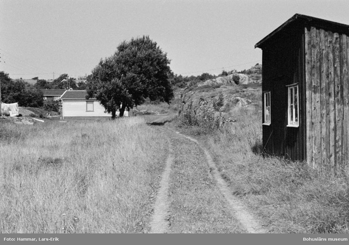 """Motivbeskrivning: """"F.d varv i Skredsvik, på bilden syns smedjan."""" Datum: 19800717 Riktning: N"""