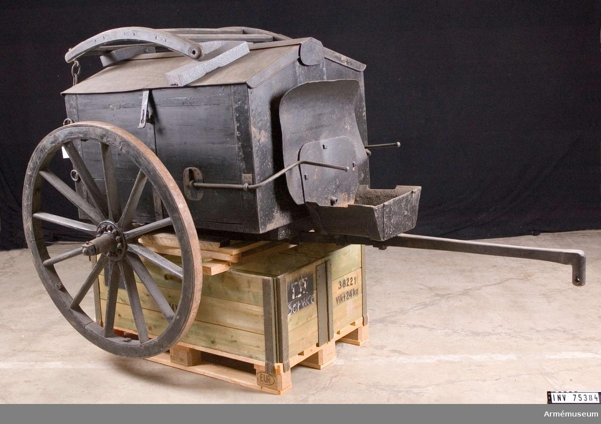 Grupp F VI. Fältsmedjevagn 1855. Kapten Keyser's projekt.