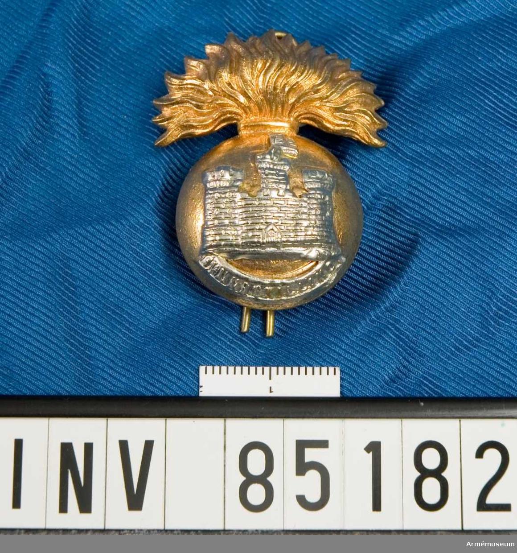 Mössmärke för Royal Inniskilling fusiliers, Storbritannien.