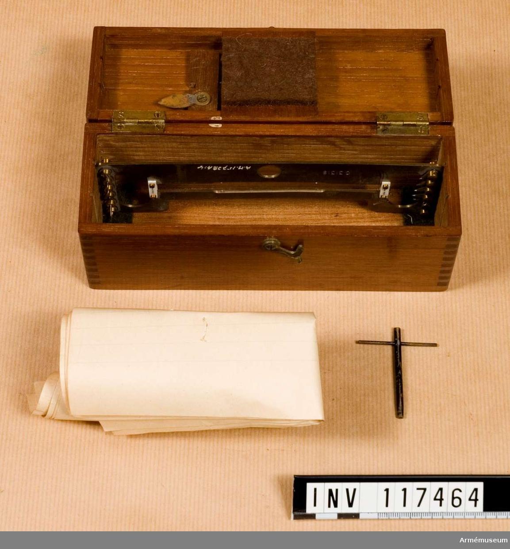 Låda för galvanometer