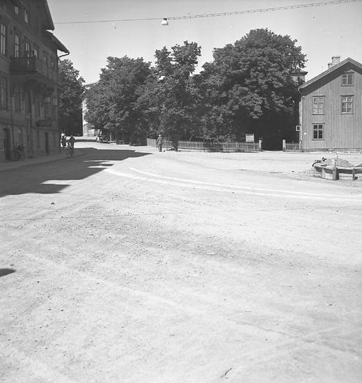 """Text till bilden: """"Polisen. Kollision på Rosvikstorg. 1946.07.13""""."""