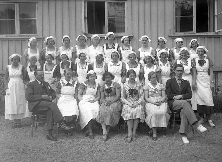 "Text till bilden:""Sommarkursen 1934""."