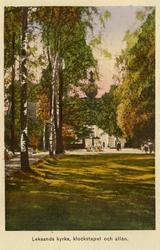Notering på kortet: Leksands kyrka, klockstapel och alle. ::