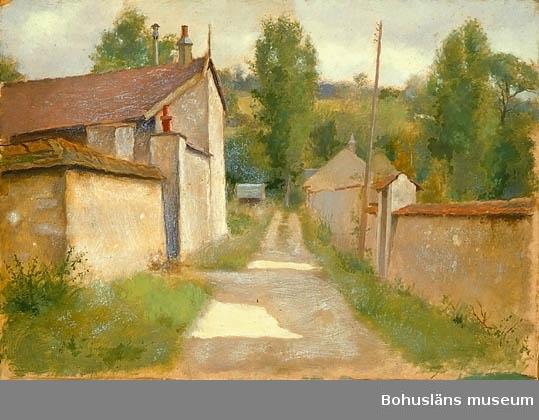 Byväg mellan murar