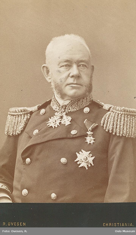 portrett, mann, admiral, brystbilde, uniform, ordener
