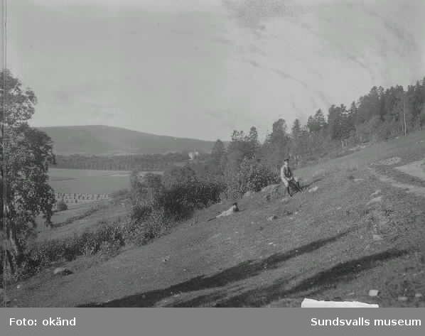 Vy från sluttningen av Norra Stadsberget mot SV.