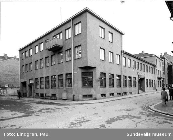 Hercules 1-4, Tullgatan 13, Trädgårdsgatan 6, Rådhusgatan 5. System AB i Sundsvall