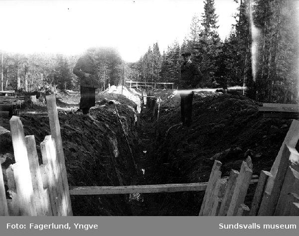 Dike, markplanering i Stockvik.