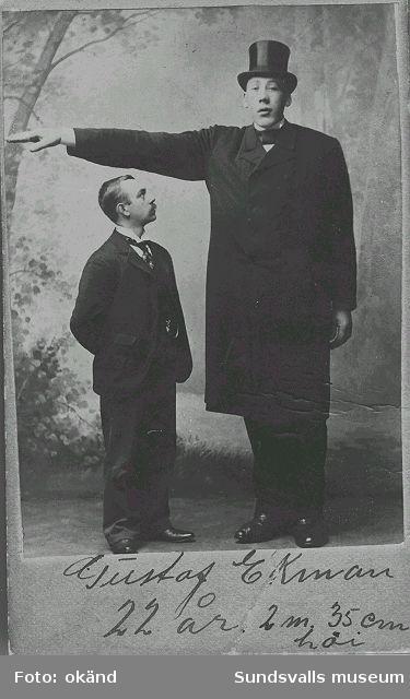 Gustaf Ekman 22 år, 2 m 35 cm lång