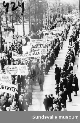 Demonstrationståg.