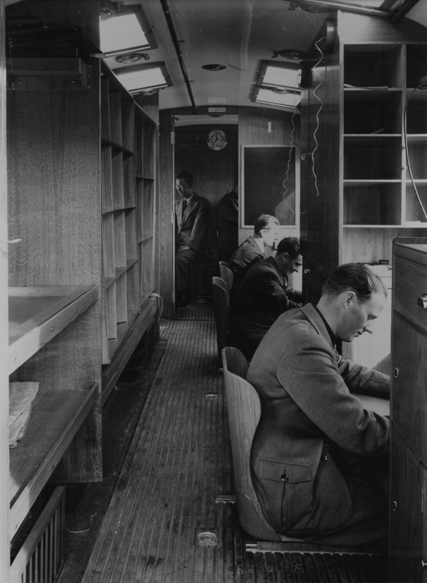 Bilpostkontor 1940. Började användas på hösten 1940.