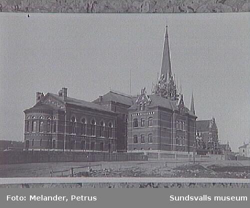 Vy fr Rektorsgatan/Rådhusgatan.