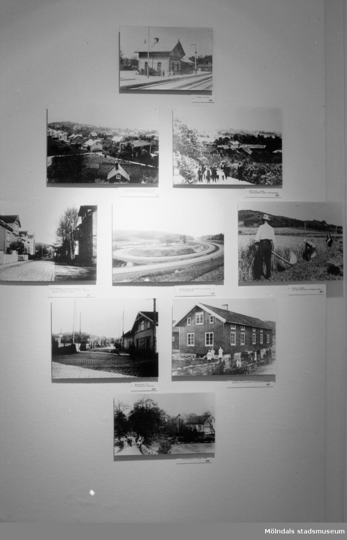 """Interiörbilder från utställningen """"Gammalt skräp eller samlade minnen"""" som visades på Mölndals Museum 23 maj - 29 nov 1992. Denna utställning visade föremål och foton från museets egna samlingar, insamlade under de fem första verksamhetsåren."""