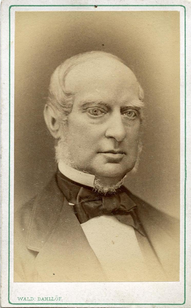 Porträtt av Georg Fredrik Ameen, postmästare och postdirektör i Göteborg.