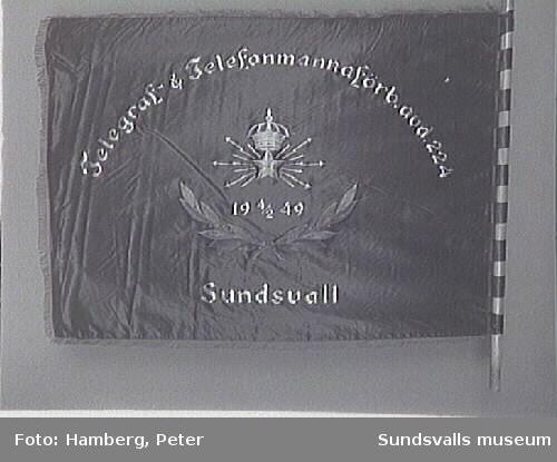 Telegraf &Telefonmannaförbundet avd.224 Sunds-vall (bildad 4/2 1949) Deposition från Statsanställdas förbund,Sundsvall till Folkrörelsearivet.