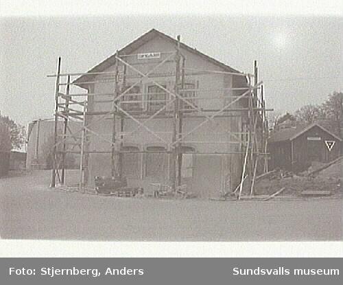 Svartviks industriområde. Renovering av pannhus.