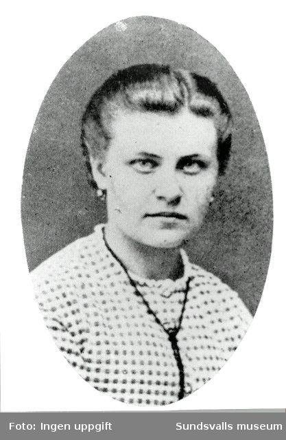 Hedvig Carolina Billström, första lärarinnan i egentliga folkskolan, anställd 1868.