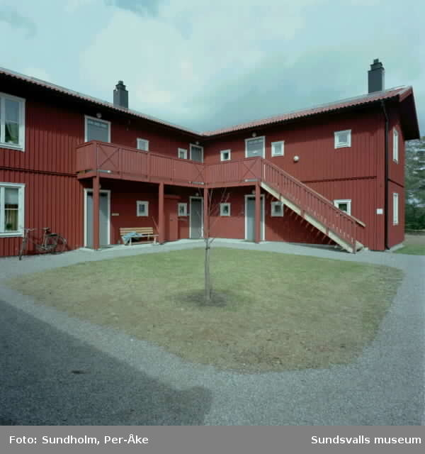 Nybyggnation mellan Sidsjöns ga. personalbostäder och Södermalm. Interiör från Höglundaskolan.