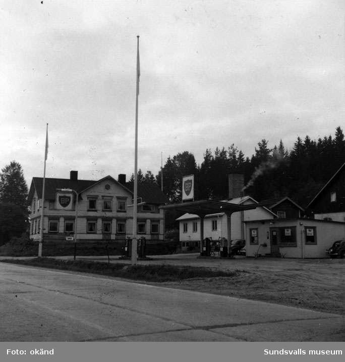 BP-stationen Dingersjö, Njurunda. Köpman: Lennart Gahn.