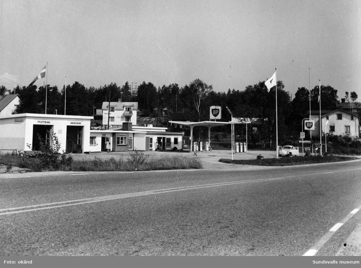 BP-stationen Sandöbron. Köpman: Göran Wall.