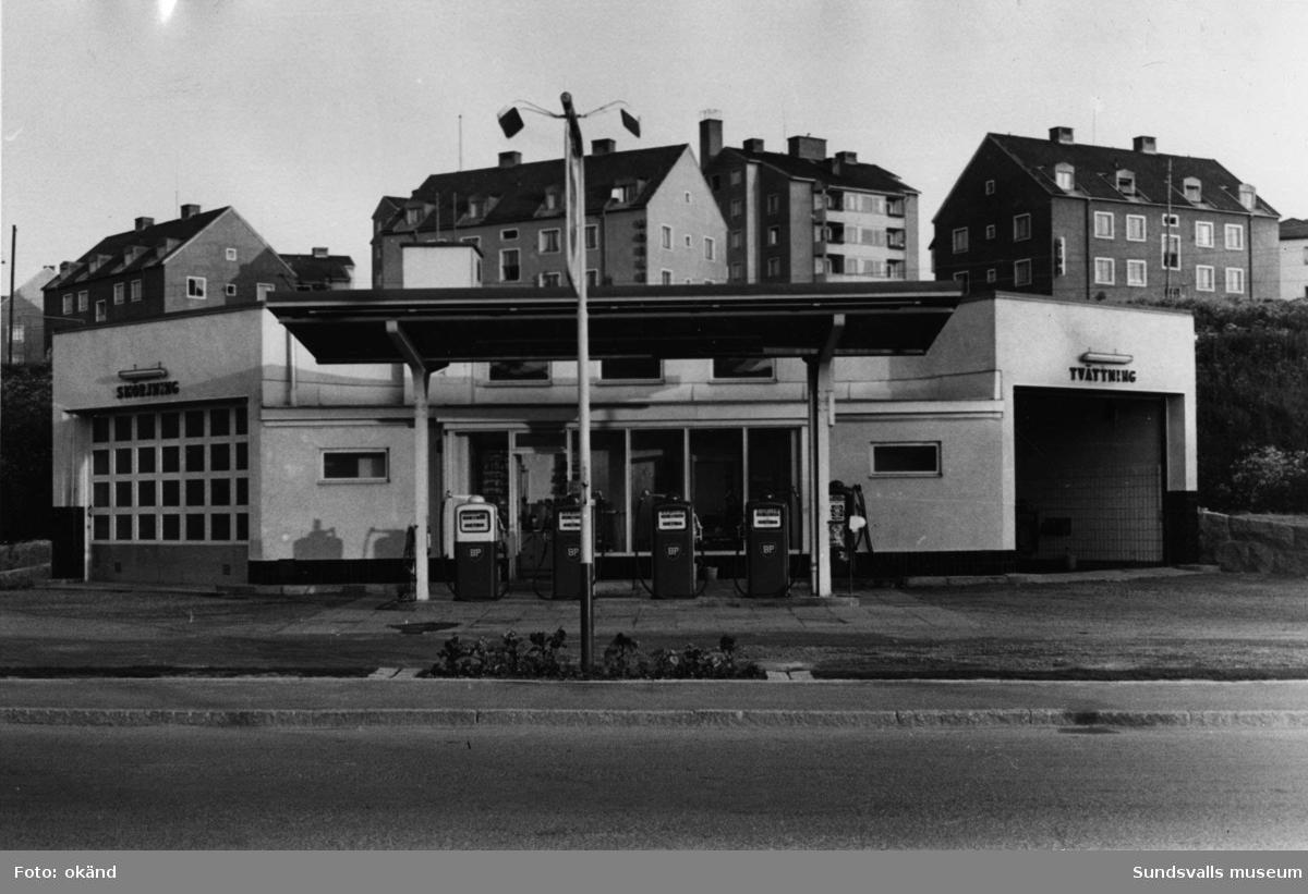 BP-stationen Sollefteå. Köpman: Henrik Mellberg, Föreståndare: D. Östman.