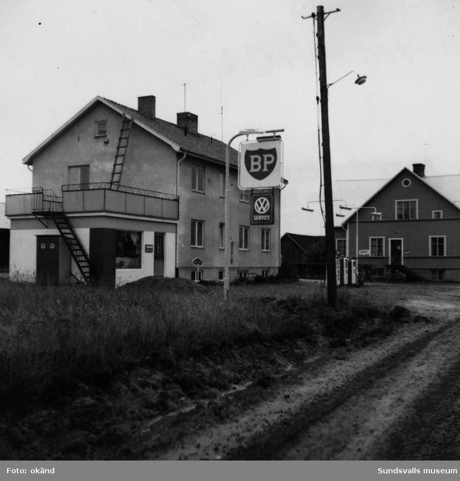 BP-stationen Hemling, Örnsköldsvik.Köpman: Fritz Jonsson.