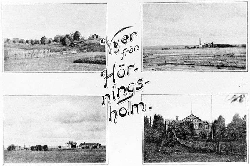Vykort från Hörningsholm.