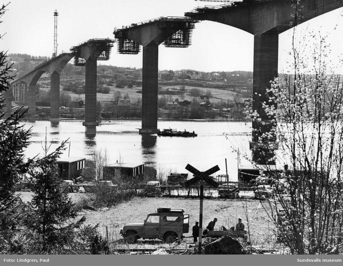 Byggandet av Alnöbron.