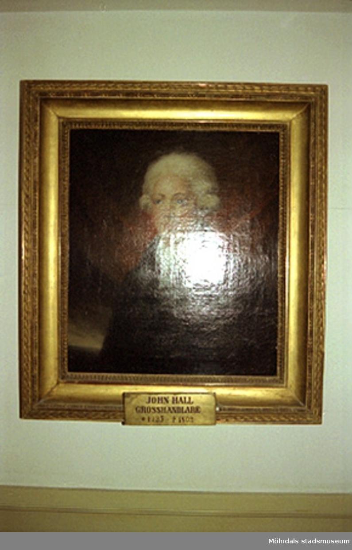 Avfotograferad porträttmålning på Grosshandlare John Hall (1735 - 1802).John Halls eller Carlsbergs teckningar.