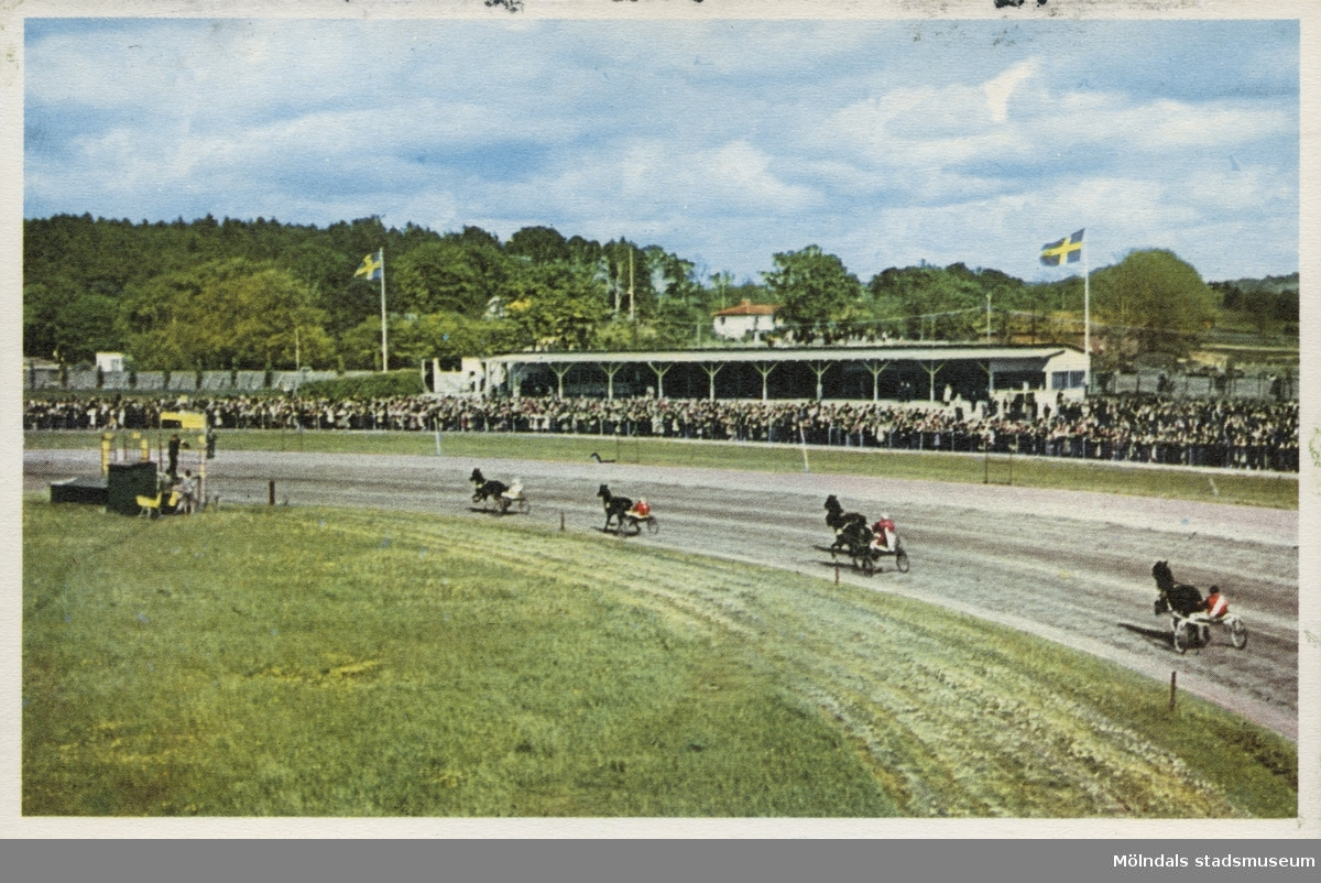 Åby travbana. Bild troligen tagen mellan 1947-1952.