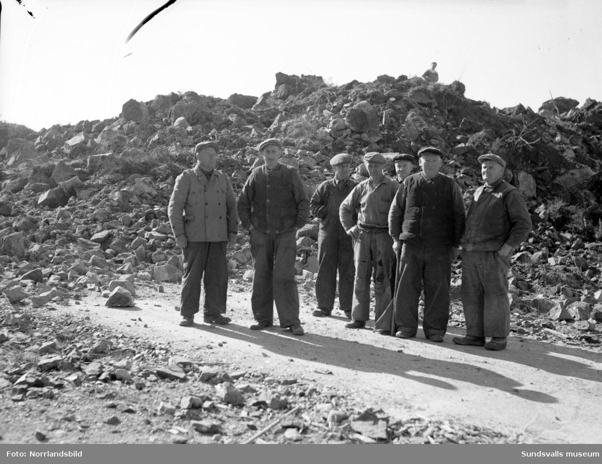 Sprängning vid vägbygge  i Gökböle norr om Timrå.