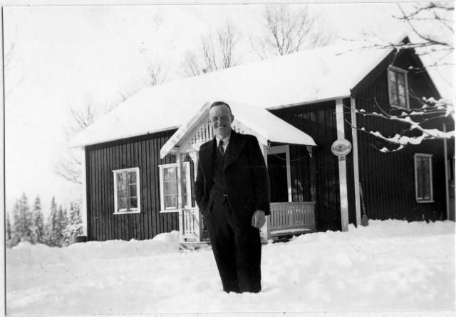 Näldens postområde. Kallrör posstation, exteriör, 1947.