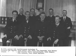 Sittande från vänster Bengt Humble, Ivar Gårdh, Bror Bergstr