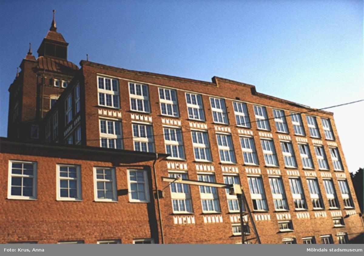 Kängurun 18. Krokslätts fabriker. F.d. Spinneriet, norra gaveln.