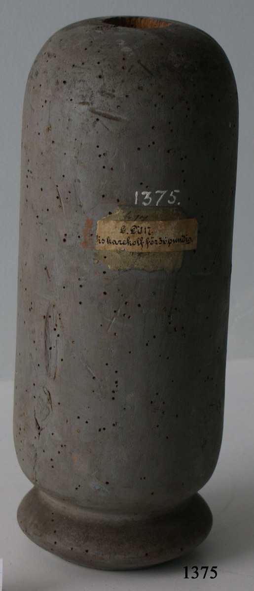 Viskarekolv, av trä, till 36-pund kanon.
